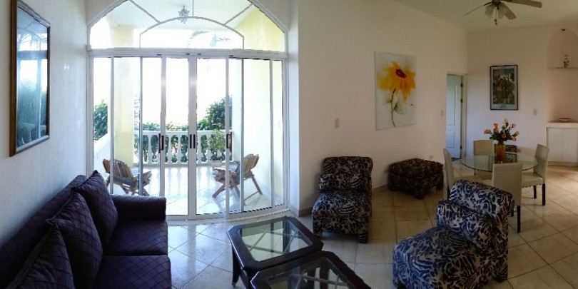 F 1871 Furnished apartment with a great views, secure, common area garden and pool in Alto de las Palomas Santa Ana –