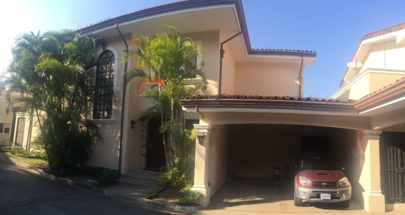 C 2371  Colonial style home with fine finishes in a very private condominium in Jaboncillos, Escazu