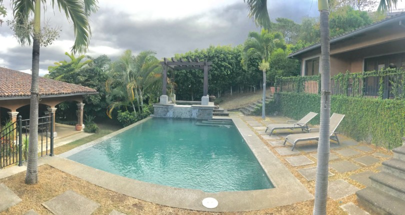 F 287 A Great Furnished Home in Cerro Alto, Escazu. Great views and private pool