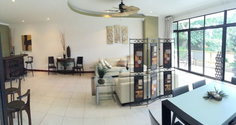 C 2212  Luxury Furnished Condo in Riverside,  Escazu. 4 bedroom condo on ground floor  Bargain sale