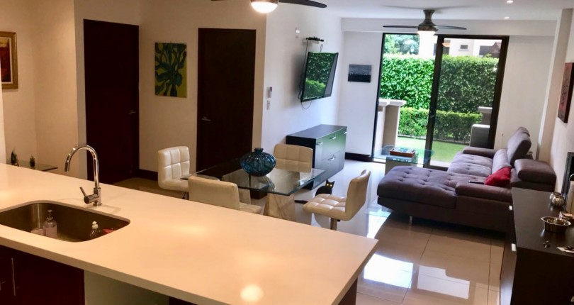 F 2970 FURNISHED FIRST FLOOR TWO BEDROOM, GARDEN IN THE CONDOMINIUM MONTESOL A FEW BLOCKS FROM MAS X MENOS DE SANTA ANA