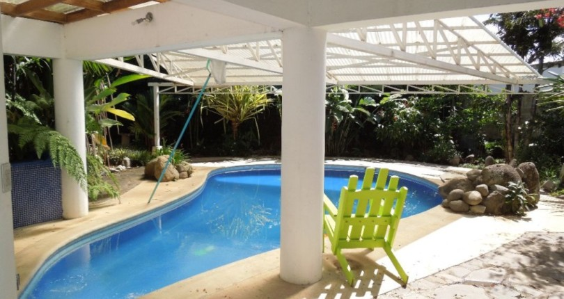 F 3132 Modern furnished house in an adult resort with pool common area in Guachipelin de Escazu all utilities included