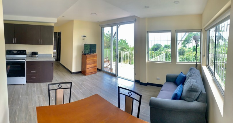 F 3183 A furnished one bedroom apartment with a wonderful view of the central valley of a bedroom with all the services included in the Barrio el Carmen de Escazu