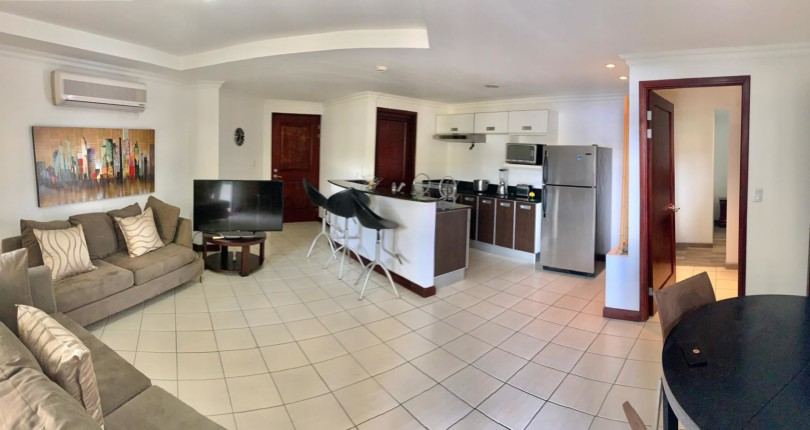 F 3218 Avalon Santa Ana Centro, fabulous furnished one bedroom apartment with large social area on the first floor