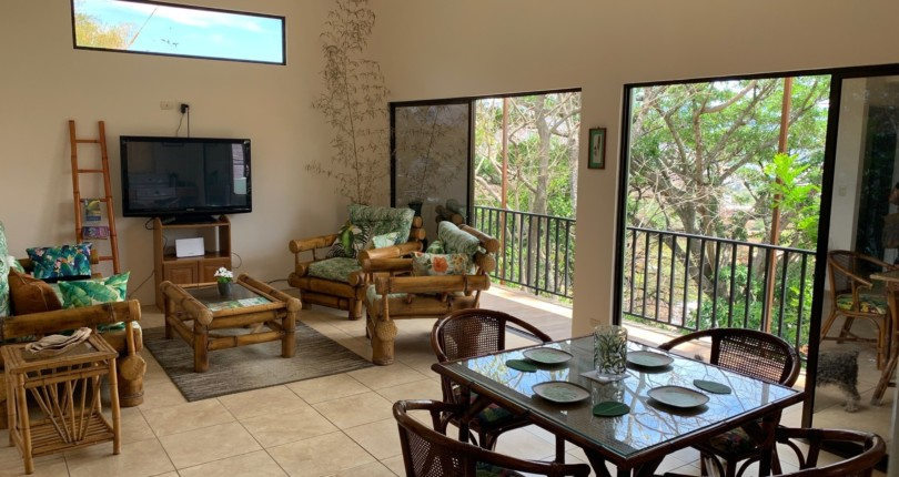 F 3281 Furnished two bedroom apartment overlooking the central valley in Vista de Oro de Escazu with all services included
