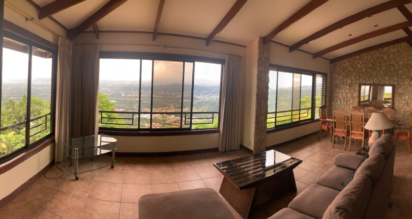 R 1036 Located in Hacienda Paraiso in  Santa Ana, breathtaking view of San Jose, pool and jacuzzi !!!!!