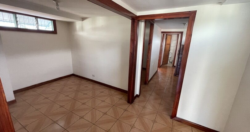 R 3946 Two bedroom apartment on a second level in Escazu Centro with common area garden
